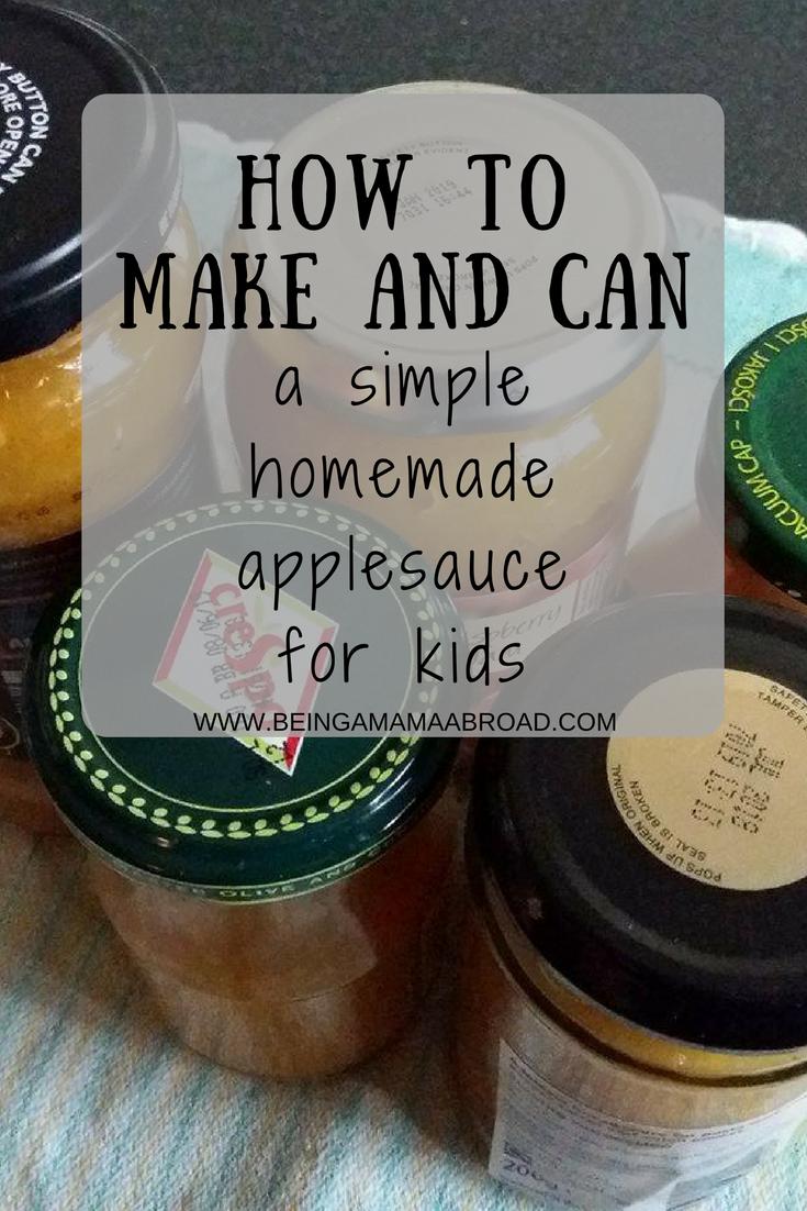 Simple Homemade Applesauce