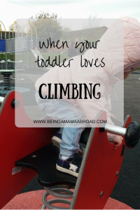 Toddler Loves Climbing